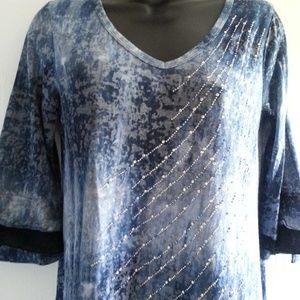Vintage Cotton with Sequince Top